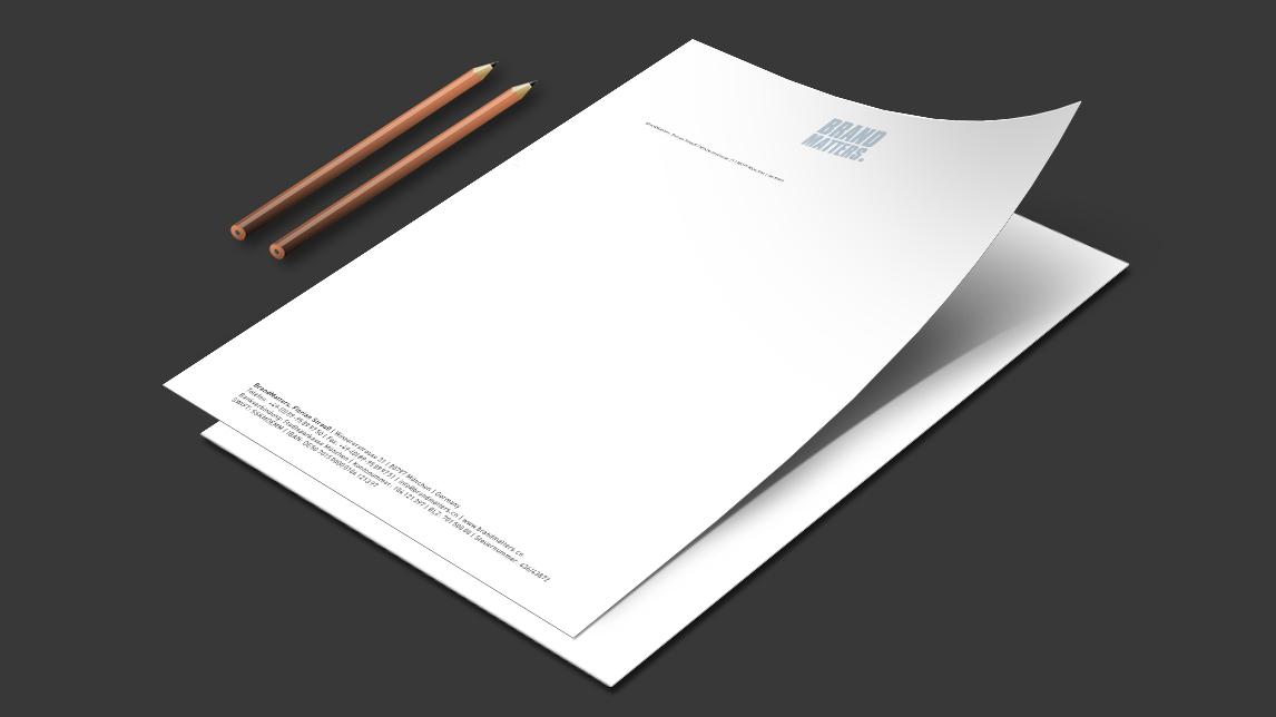briefpapier design_muenchen_brandmatters