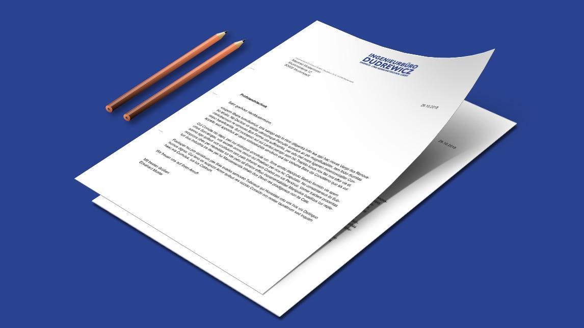 Corporate Design für das Ingenieurbüro Dudrewicz