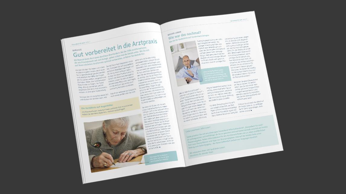 Broschüren und Newsletter für almeda