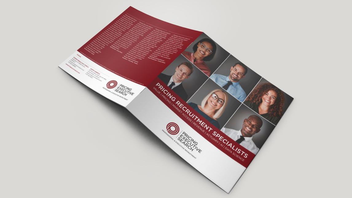 Broschueren Design  für Pricing Executive Search