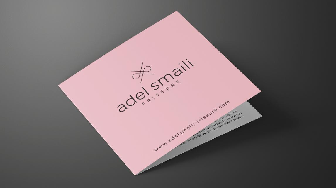 Printdesign München von Jan Möltgen, Grafikdesigner für Adel Smaili Friseure