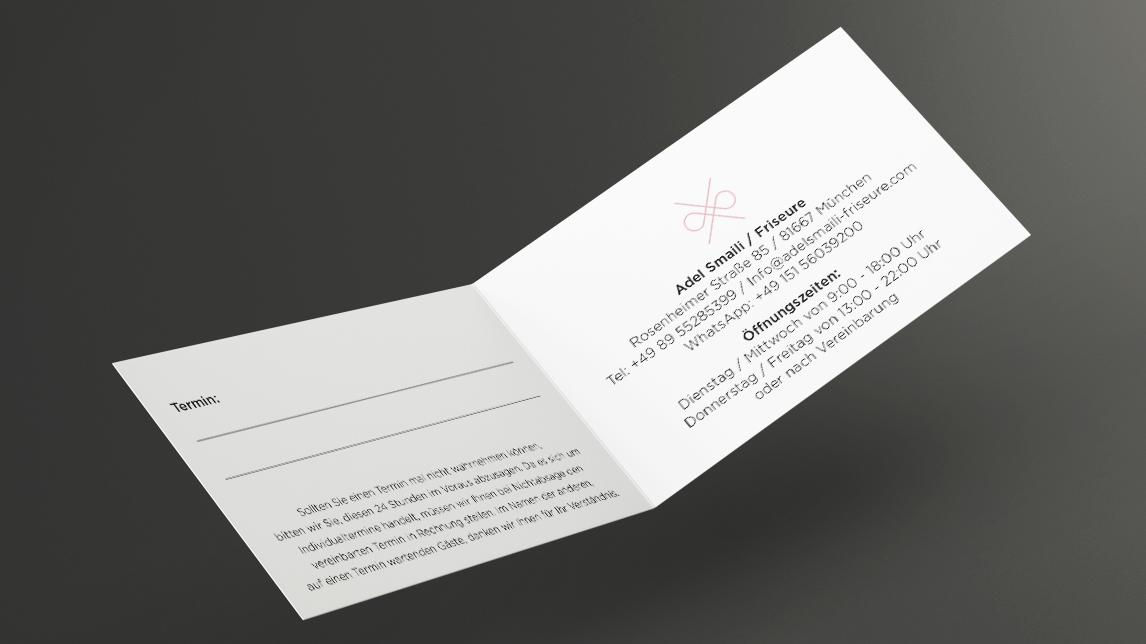 Corporate Design München von Jan Möltgen, Grafikdesigner für Adel Smaili Friseure