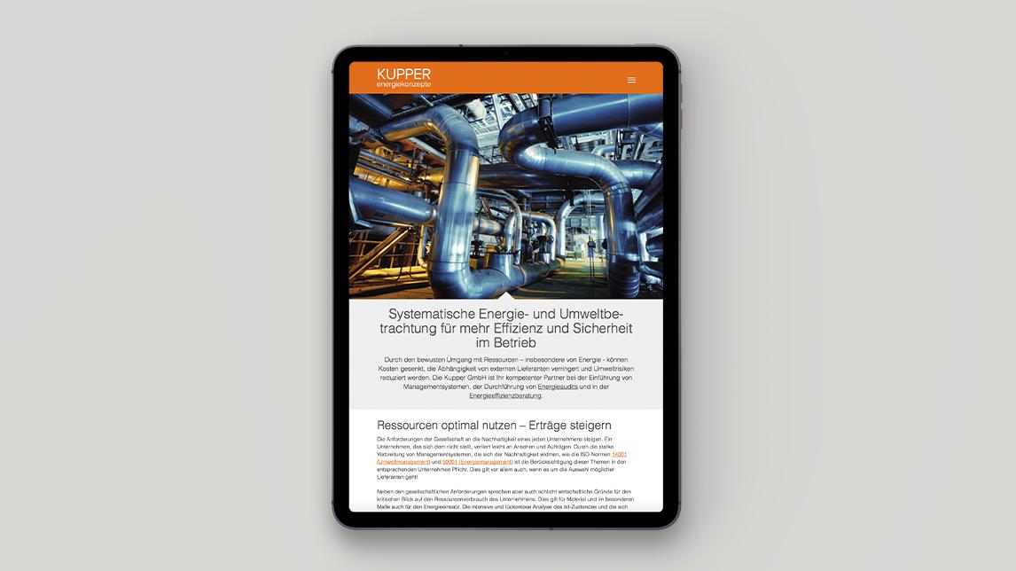 Webdesign München von Jan Möltgen, Grafikdesigner für Kolcon Energieberatung