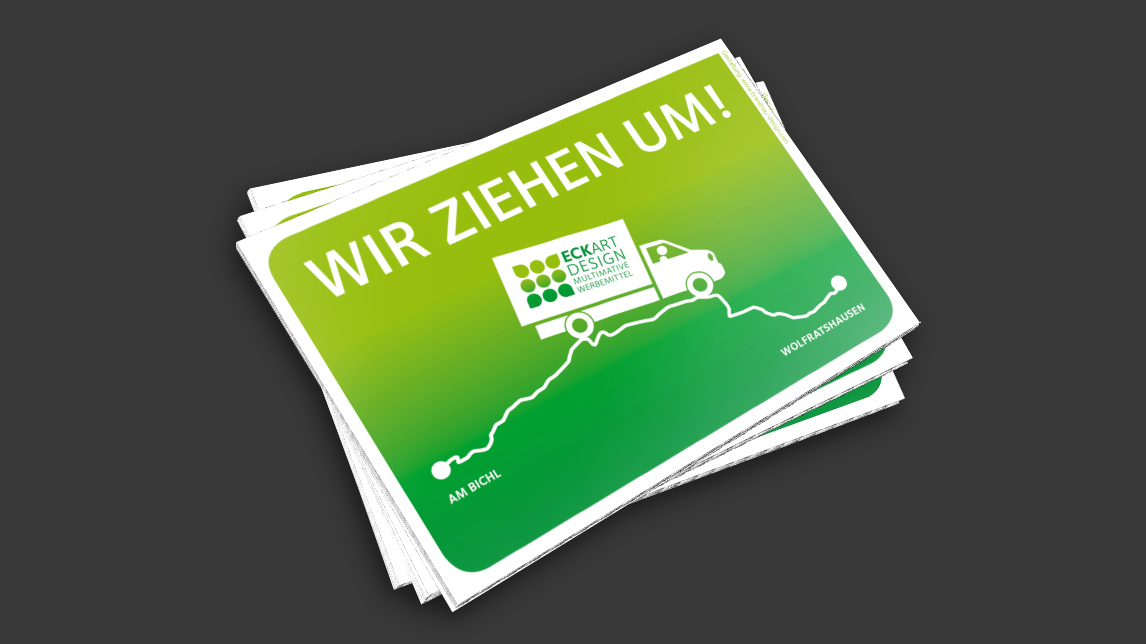 Postkarten Design München für Eckart Design Werbemittel