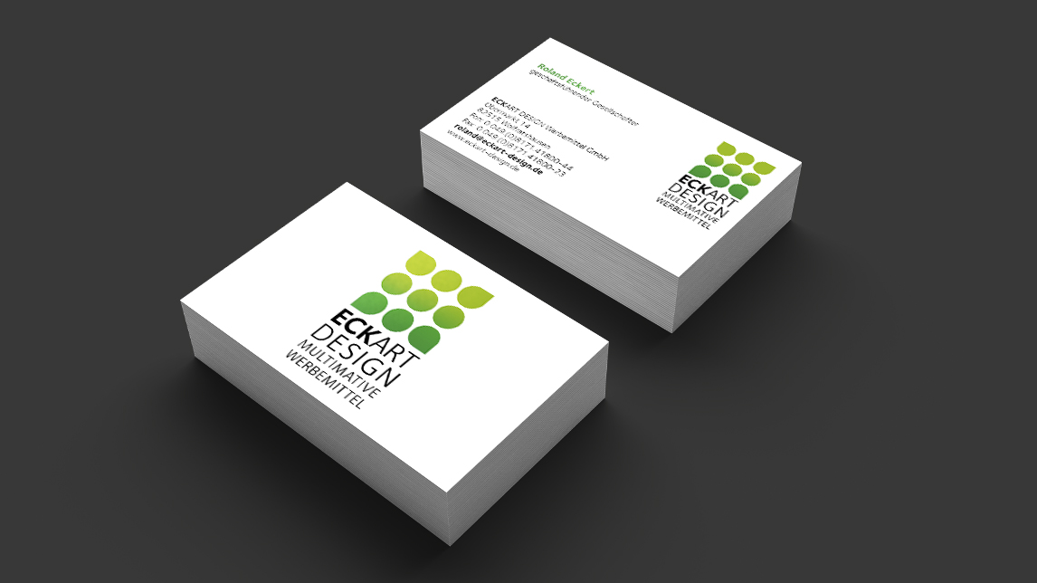 Visitenkarten Design München für Eckart Design Werbemittel