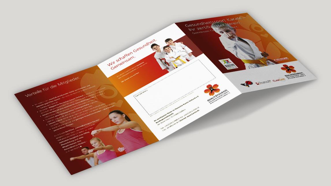 Broschüren Design für den deutschen Karateverband