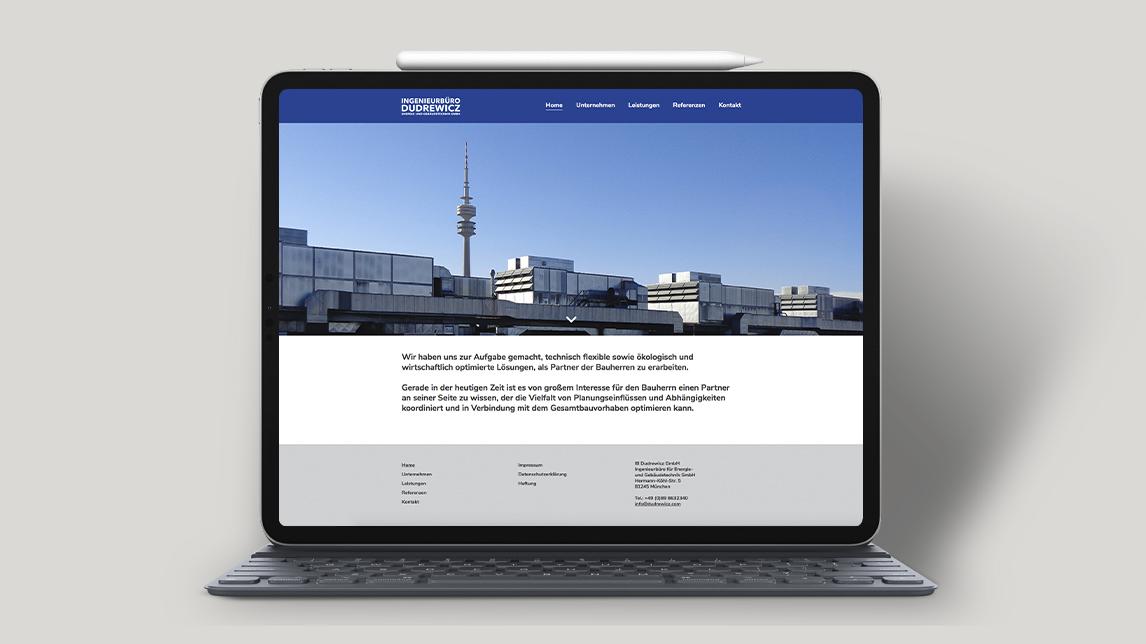 Webdesign für das Ingenieurbüro Dudrewicz