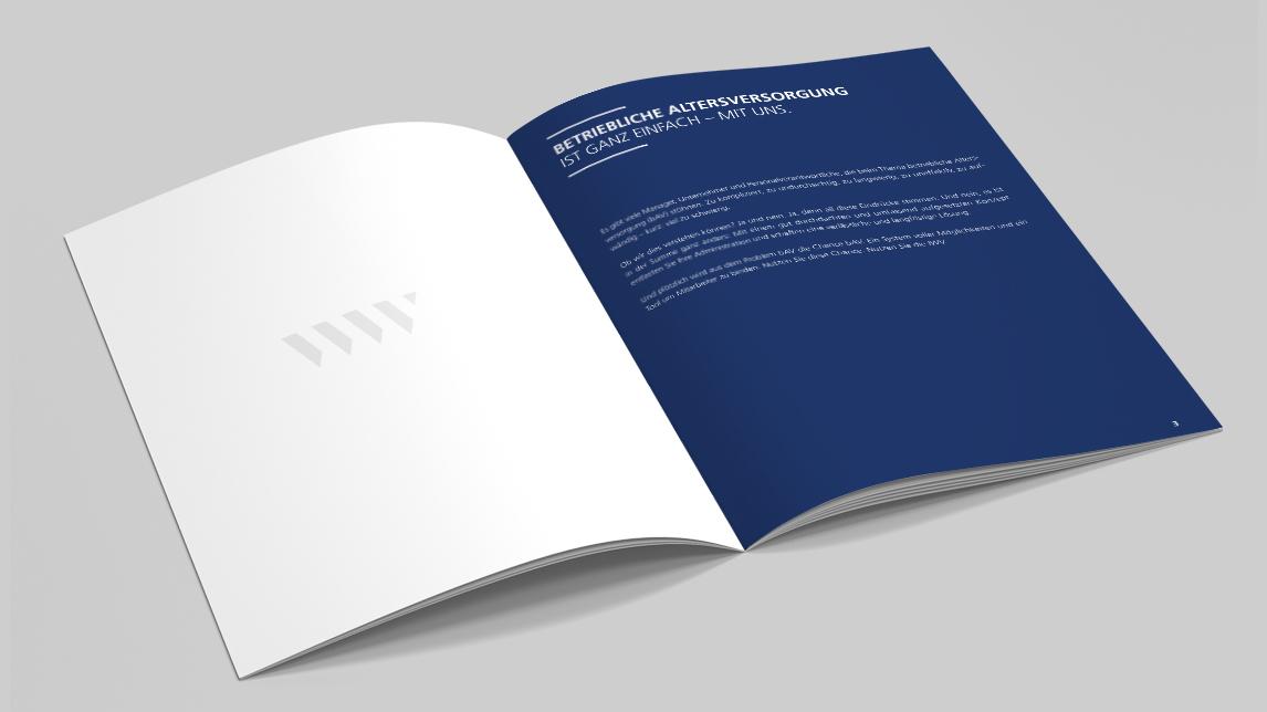Broschüren Design von Jan Möltgen, Grafikdesigner für das IWV Institut in Zorneding bei München