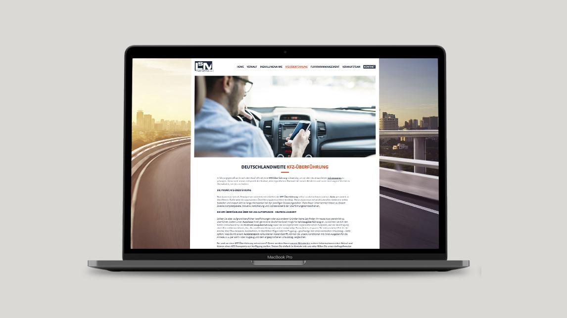 Webdesign München für das LSM Autostudio Parsdorf