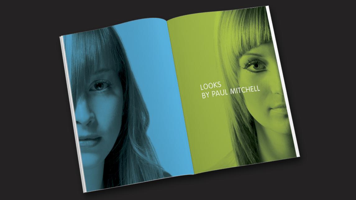 Broschüren Design München für Paul Mitchell