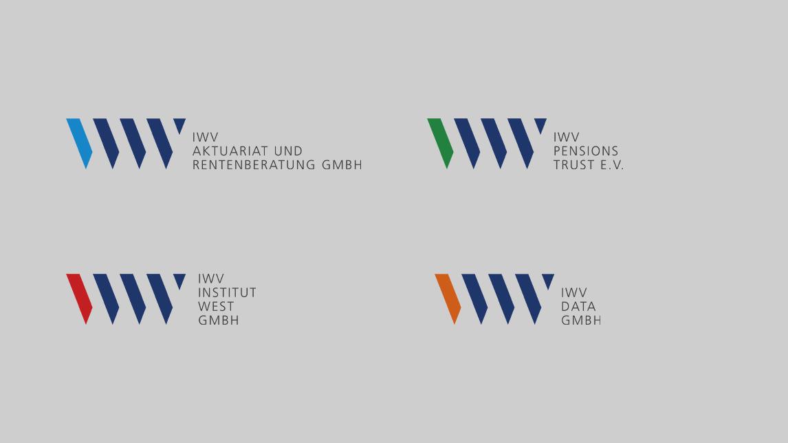 Logo Design von Jan Möltgen, Grafikdesigner für das IWV Institut in Zorneding bei München
