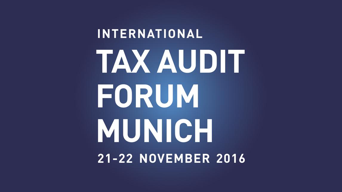 Firmenzeichen Design München von Jan Möltgen, Kommunikationsdesigner für das das Tax Audit Forum Munich