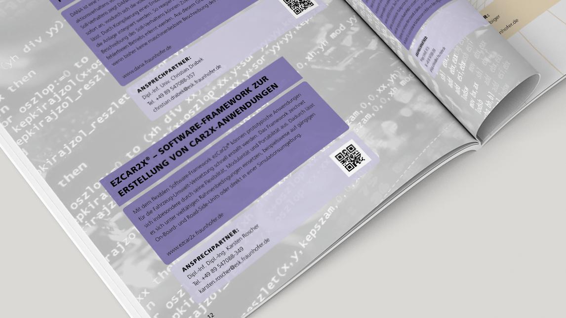 Jahresbericht von Jan Möltgen, Grafikdesigner für das Fraunhofer Institut Bereich ESK in München