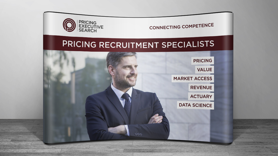 Messestand für Pricing Executive Search