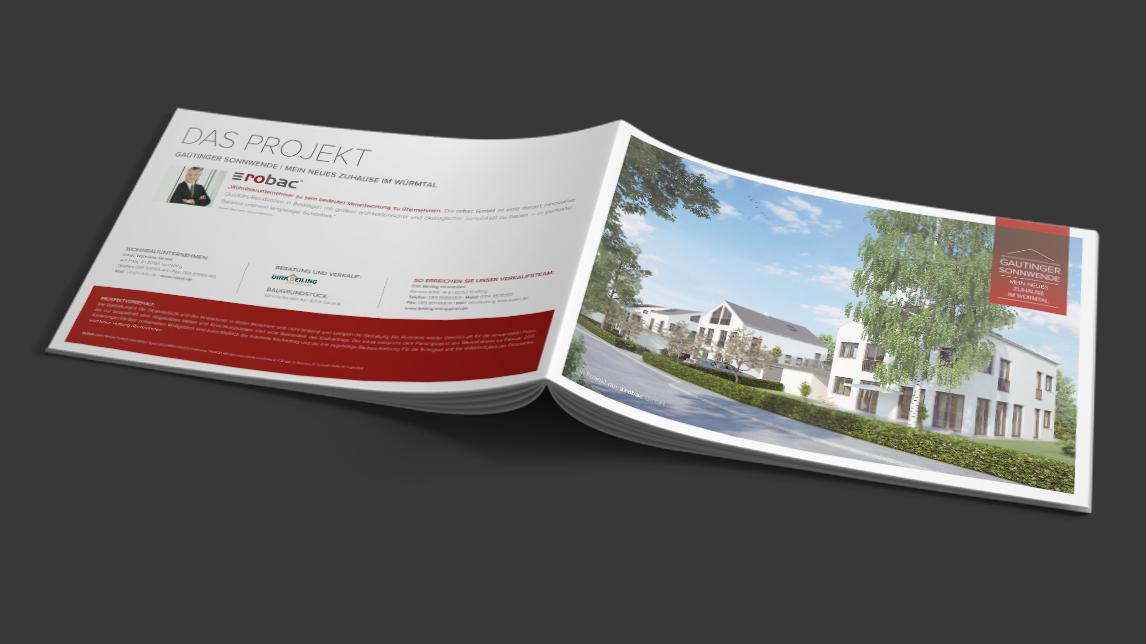 Printdesign München von Jan Möltgen, Grafikdesigner für Robac Bauträger