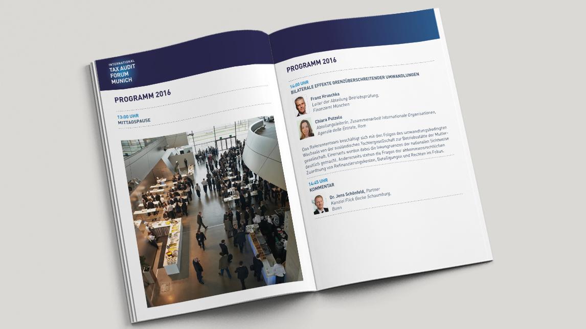 Programmheft für das Tax Audit Forum München
