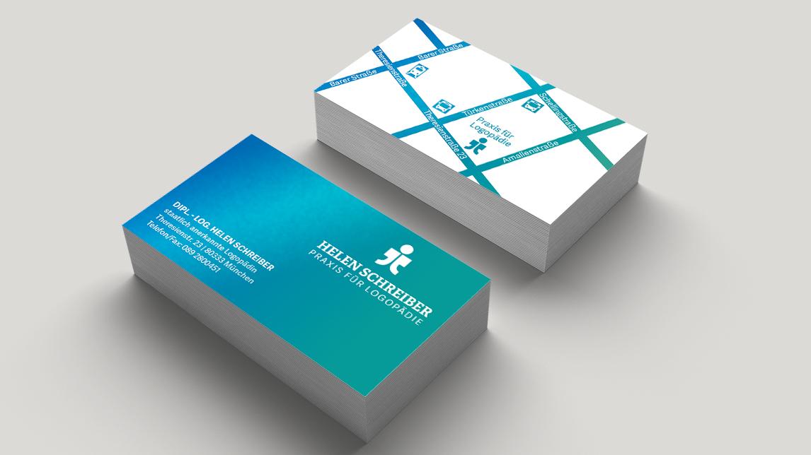 Visitenkarten Design München für eine Logopädin