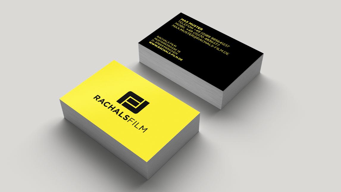 Visitenkarten Design München von Jan Möltgen, Grafikdesigner für Rachals Film