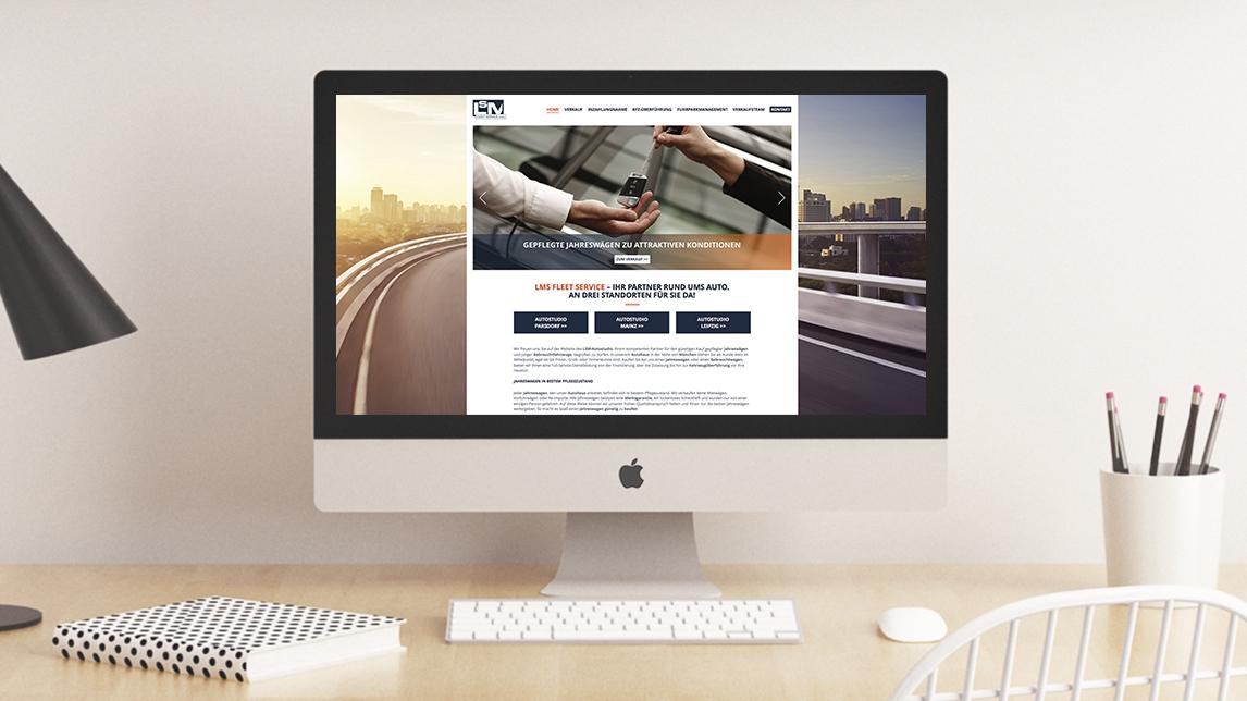 Webdesign München von Jan Möltgen, Kommunikationsdesigner für das LSM Autostudio Parsdorf
