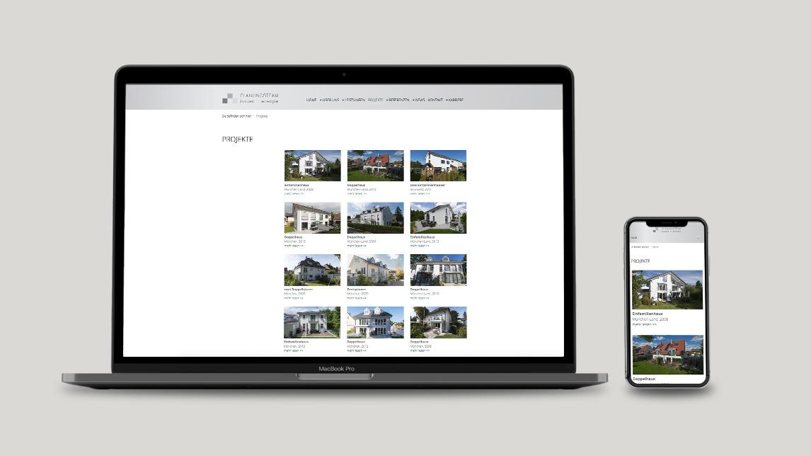 Webdesign München für Planen und Bauen
