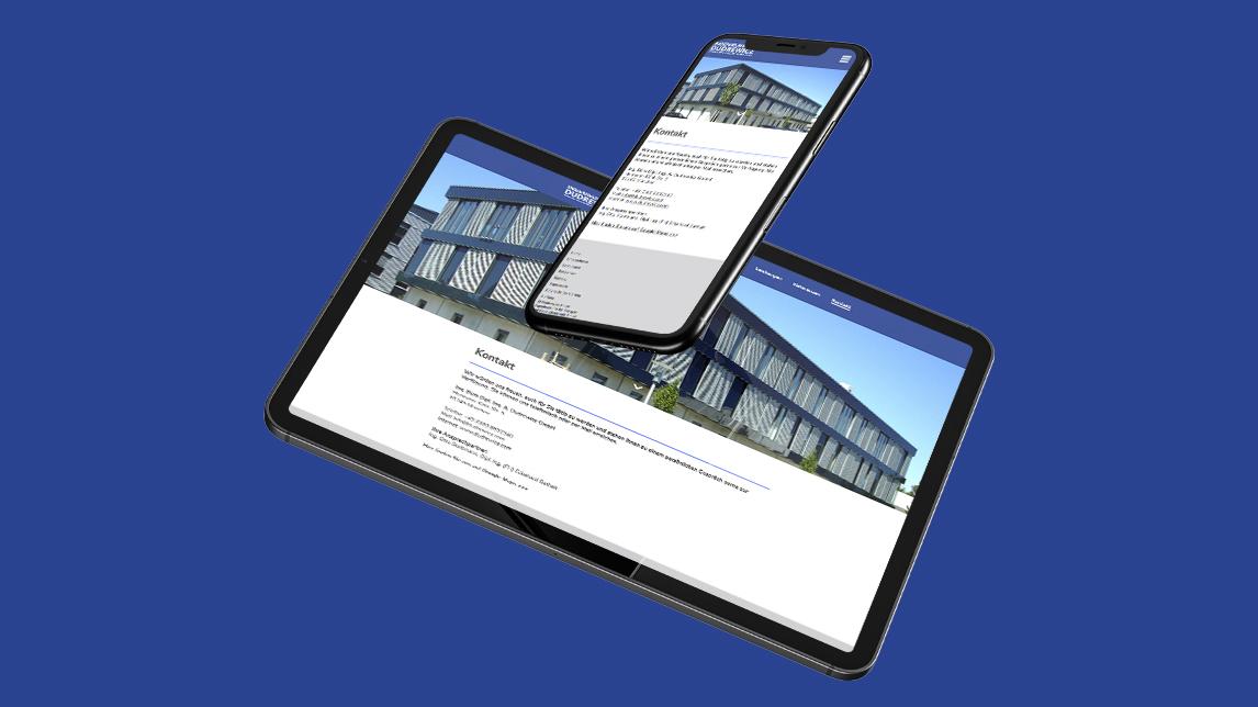 Website Design vom Webdesigner Jan Möltgen für das Ingenieurbüro Dudrewicz
